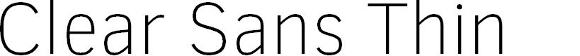 Preview image for Clear Sans Thin