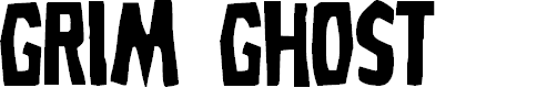 Preview image for Grim Ghost Regular Font