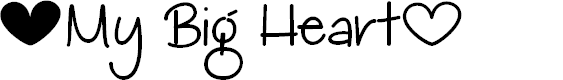 Preview image for My Big Heart Demo Font