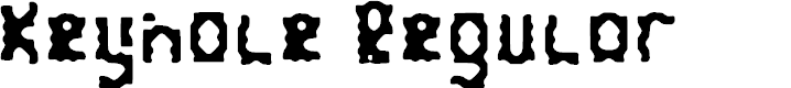 Preview image for Keyhole Regular Font