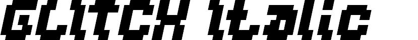 Preview image for GLITCH Italic