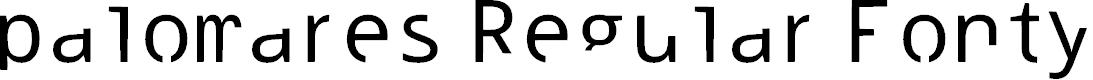 Preview image for palomares Regular Fonty Font