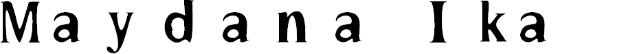 Preview image for Maydana Ika Font