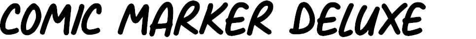 Preview image for Comic Marker Deluxe Font