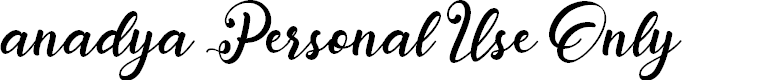 Preview image for anadya Personal Use Only Font