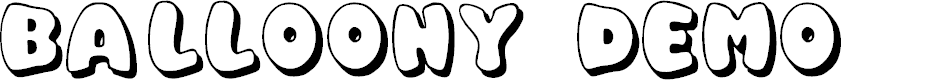 Preview image for Balloony Demo Font