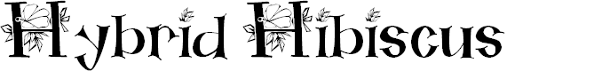 Preview image for Hybrid Hibiscus  Font