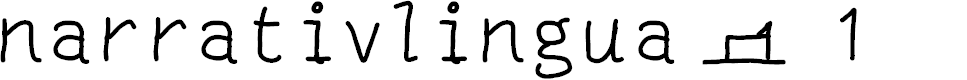 Preview image for narrativlingua - 1 Font