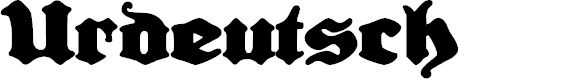Preview image for Urdeutsch Font