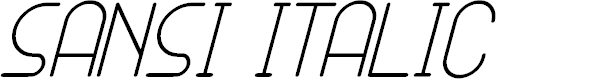 Preview image for SANSI Italic Font