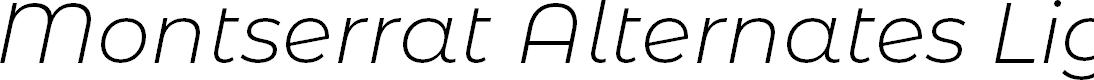 Preview image for Montserrat Alternates Light Italic