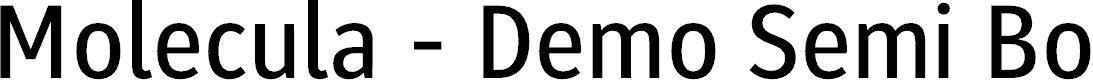 Preview image for Molecula - Demo Semi Bold Font