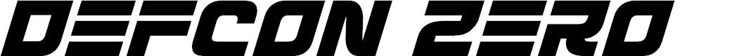Preview image for Defcon Zero Italic Font