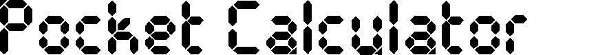 Preview image for Pocket Calculator Font