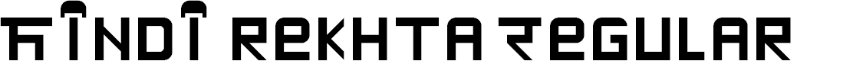 Preview image for Hindi rekhta Regular Font