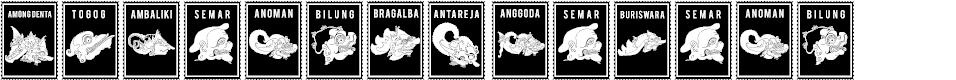 Preview image for Perangko Wayang Font