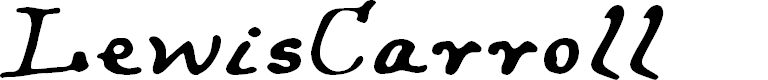 Preview image for LewisCarroll Font