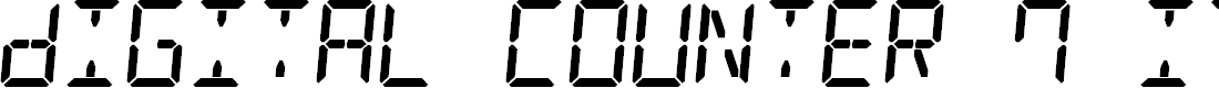 Preview image for Digital Counter 7 Italic