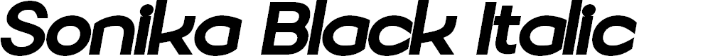 Preview image for Sonika PERSONAL USE Black Italic