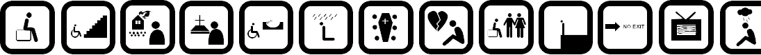 Preview image for DEPRESSIVE ICONRegular Font
