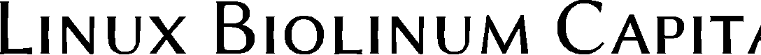 Preview image for Linux Biolinum Capitals