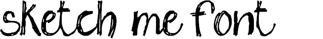 Preview image for sketch me_FREE-version Font