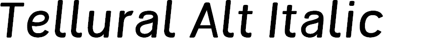 Preview image for Tellural Alt Italic