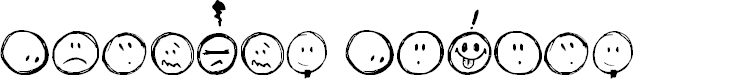 Preview image for Sketchy Smiley Font