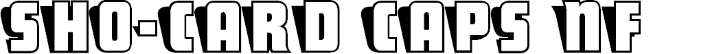 Preview image for Sho-Card Caps NF Font