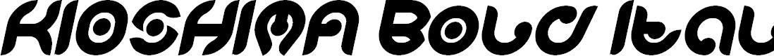 Preview image for KIOSHIMA Bold Italic