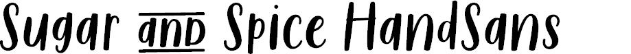Preview image for Sugar & Spice HandSans Font