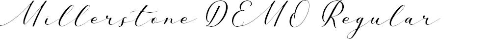 Preview image for Millerstone DEMO Regular Font