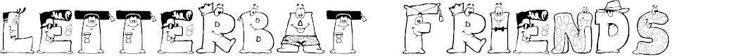 Preview image for LMS Letterbat Friends Font