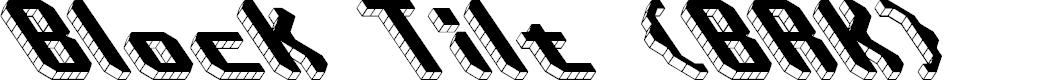 Preview image for Block Tilt (BRK) Font
