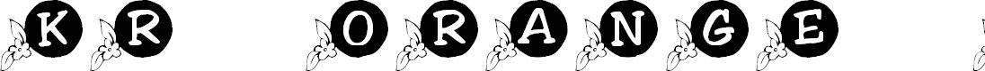 Preview image for KR Orange Blossom Font