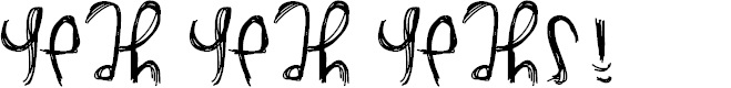 Preview image for YeahYeahYeahs Font