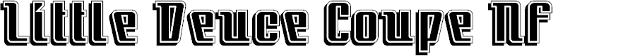 Preview image for LittleDeuceCoupe Font