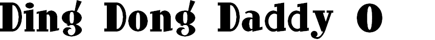 Preview image for Ding-DongDaddyO Font