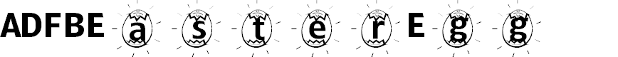 Preview image for ADFBEasterEgg Font