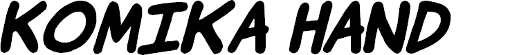 Preview image for Komika Hand Bold Italic