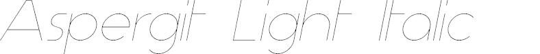 Preview image for Aspergit Light Italic