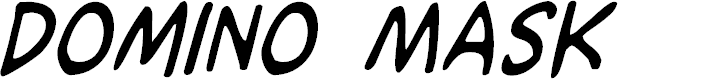 Preview image for Domino Mask Condensed Italic