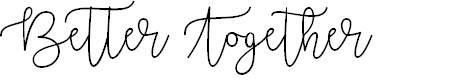 Preview image for Better Together Demo Font