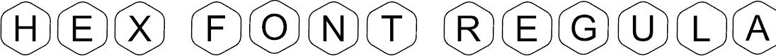 Preview image for HEX Font Regular