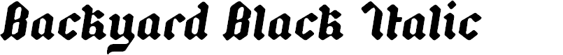 Preview image for Backyard Black PERSONAL Italic