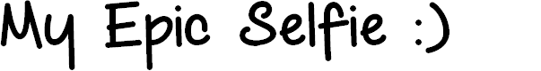 Preview image for My Epic Selfie Demo Font
