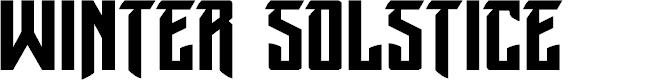 Preview image for Winter Solstice Font