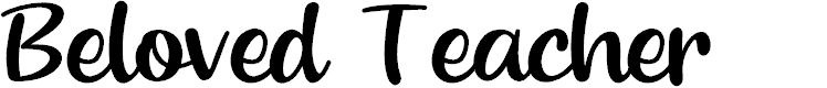 Preview image for Beloved Teacher Font