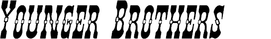 Preview image for Younger Brothers Italic