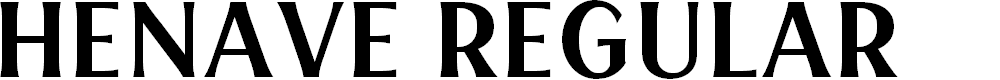 Preview image for HENAVE Regular Font